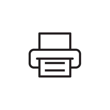 Printer icon Vector illustration Illustration