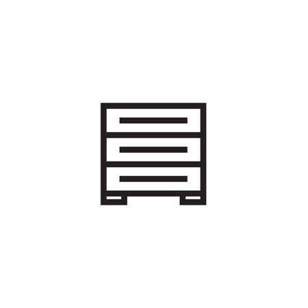 Drawer icon Vector illustration, EPS10.