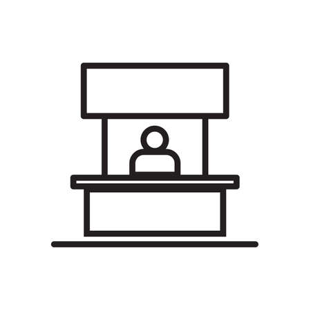 Flat art of Sales booth icon  illustration.