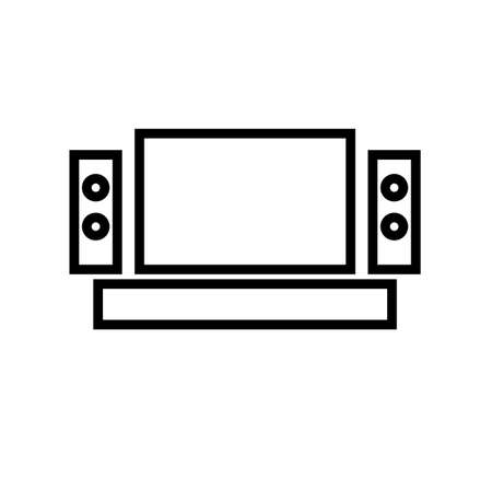 home theater icon Vector illustration, EPS10. Stock Illustratie