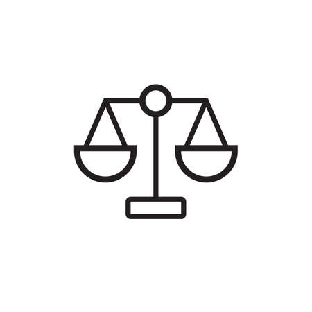 Law scale icon  Vector illustration, EPS10. Vectores
