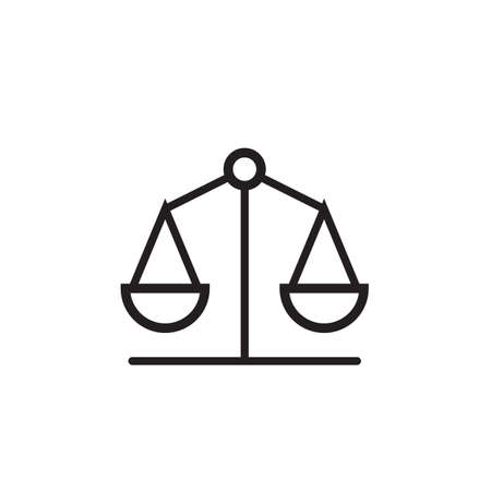 Law scale icon Vector illustration, EPS10.