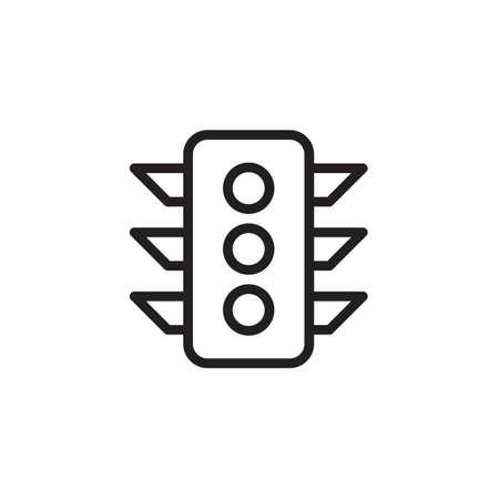 traffic lights icon Vector illustration, EPS10.