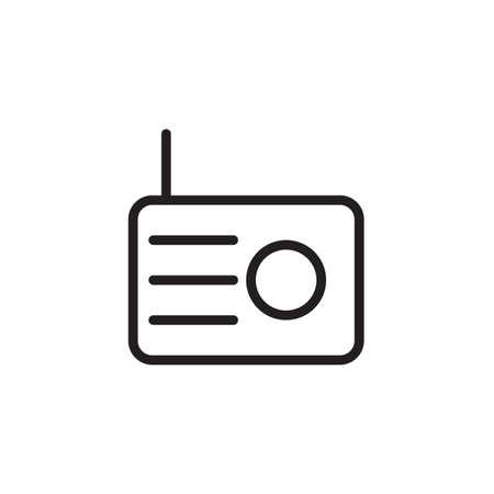 Icône de la radio Illustration vectorielle, Eps10.