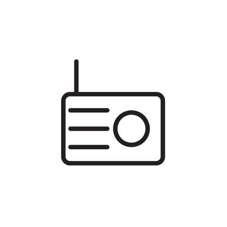 Radio icon Vector illustration, EPS10.  イラスト・ベクター素材