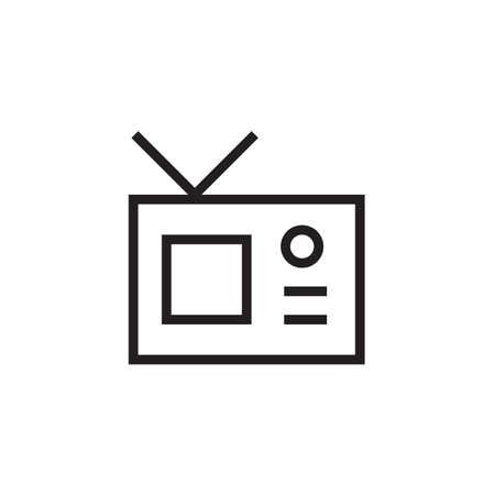 TV icon Vector illustration, EPS10.  イラスト・ベクター素材