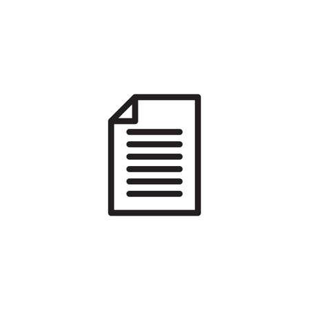 Paper icon Vector illustration, EPS10.  イラスト・ベクター素材