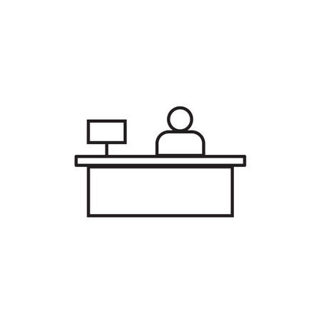 Sales booth icon Vector illustration, EPS10.