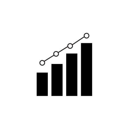 Growing graph icon, vector eps 10 .