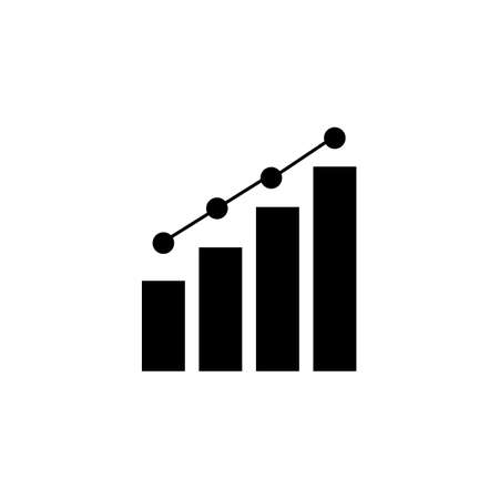 Growing graph icon, vector eps 10