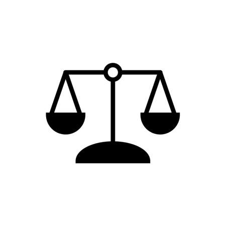 Law scale icon  Vector illustration, EPS10. 向量圖像