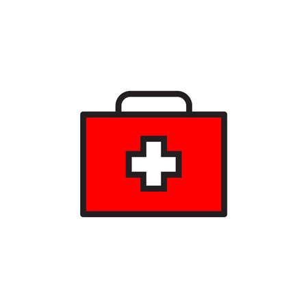 Medical box Icon Vector illustration, EPS10 .