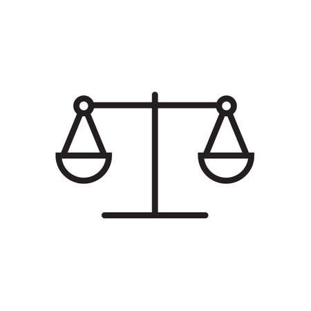 Law scale icon  Vector illustration, EPS10. Ilustrace
