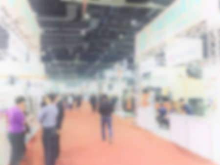 Blur image of a exhibition .