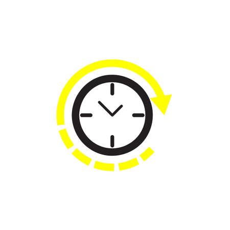 Clock icon Vector illustration, EPS10 Иллюстрация