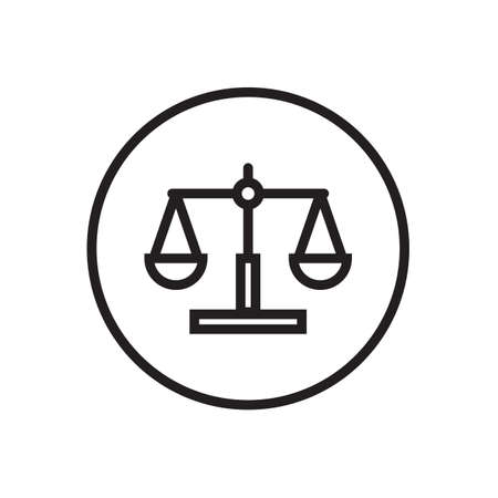 Law scale icon  Vector illustration, EPS10.  イラスト・ベクター素材