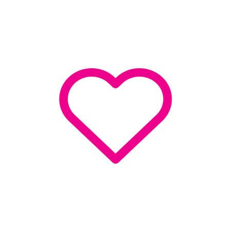 Heart icon Vector illustration, EPS10. Иллюстрация