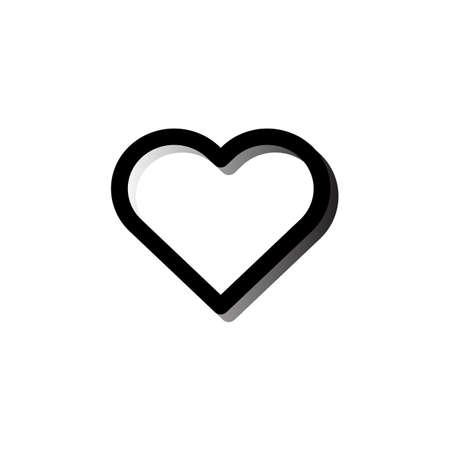 Heart icon Vector illustration, EPS10.  イラスト・ベクター素材