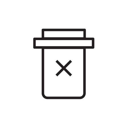 Trash icon Vector illustration, EPS10.