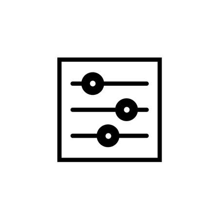 Setting icon Vector illustration, EPS10. Иллюстрация