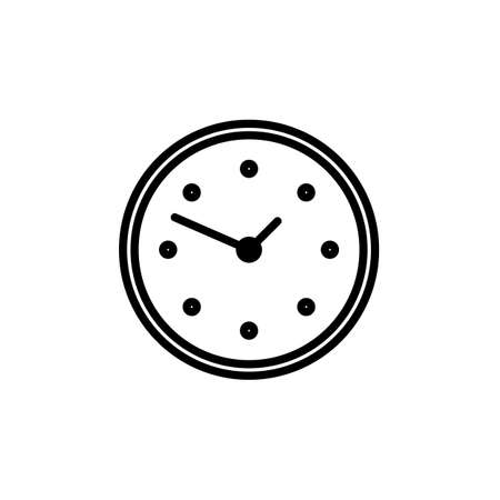 Clock icon Vector illustration , EPS10 .
