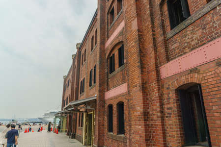 Yokohama, Japan - June 4, 2019 :Yokohama Red Brick Warehouse. is a historical building that is used as a complex that includes a shopping mall, banquet hall, and event venues.