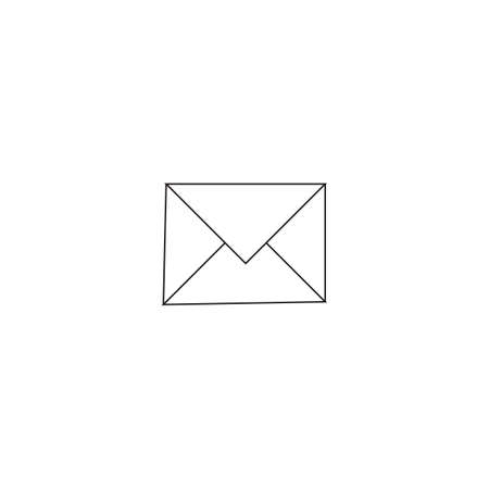 Letter minimal style Icon vector