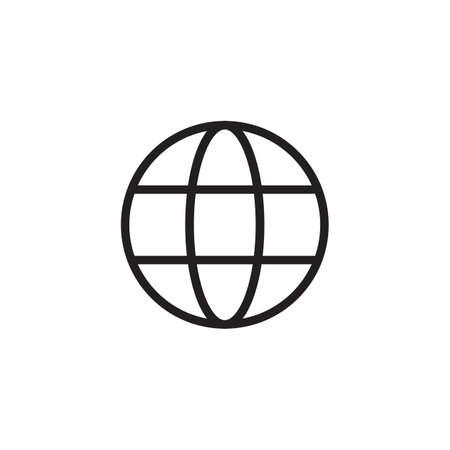 Earth minimal style Icon vector