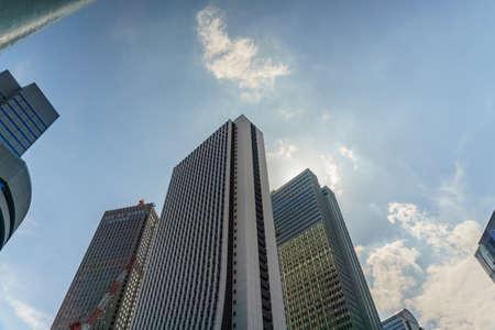 High-rise building at Shinjuku in Tokyo, Japan .