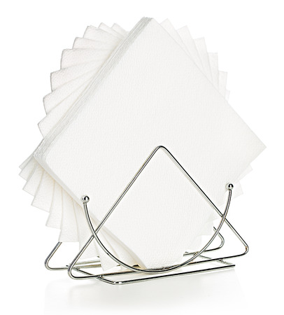 napkins: Napkins in a stand