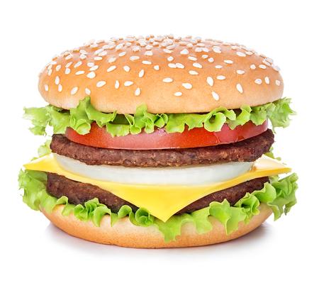 hamburger: hamburger isolated on white background