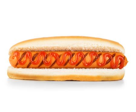 Hot dog geïsoleerd