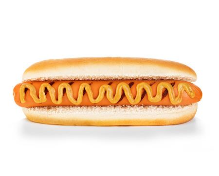 perro caliente: Hot dog aislado