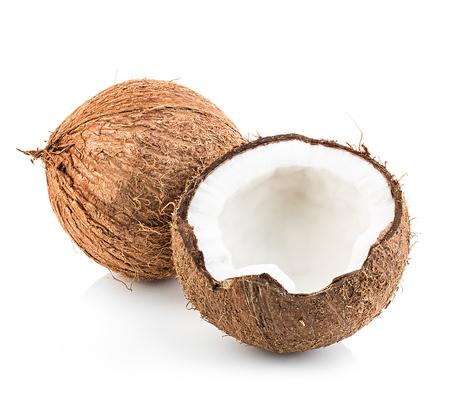 cocotier: Noix de coco isol� sur fond blanc