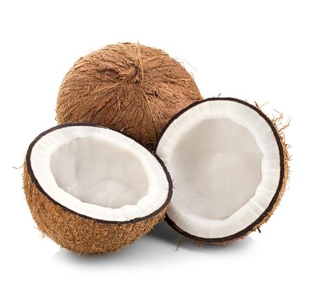 코코넛 흰색 배경에 고립