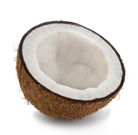 half coconut close-up isolated on a white background Reklamní fotografie - 44405381
