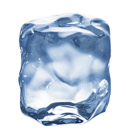 Ice cube isolated on white.