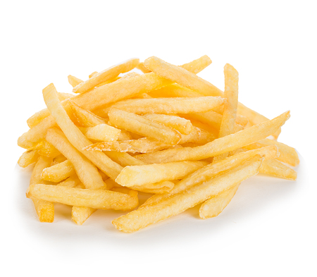 french fried potato: French fries isolated.