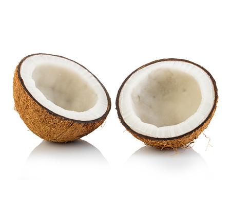 cocotier: Noix de coco isolé sur fond blanc