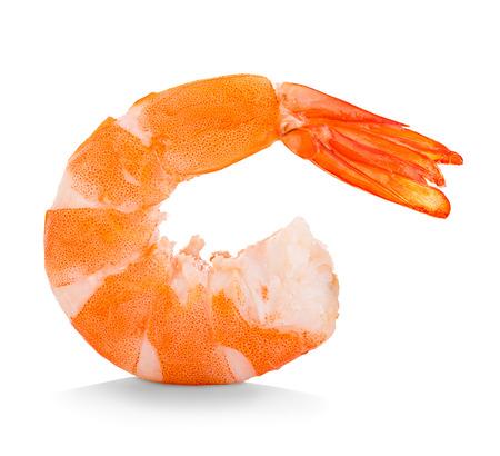 タイガー海老の。エビは、白い背景で隔離。魚介類
