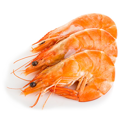 shrimp: Tiger shrimps. Prawns with isolated on a white background. Seafood