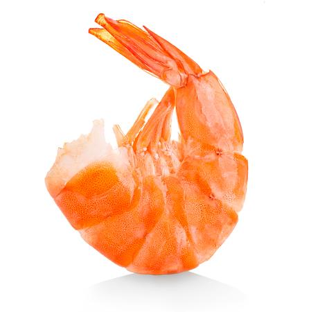 tiger shrimp: Tiger shrimp. Prawn isolated on a white background. Seafood