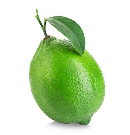 Lime isolated close-up on a white background