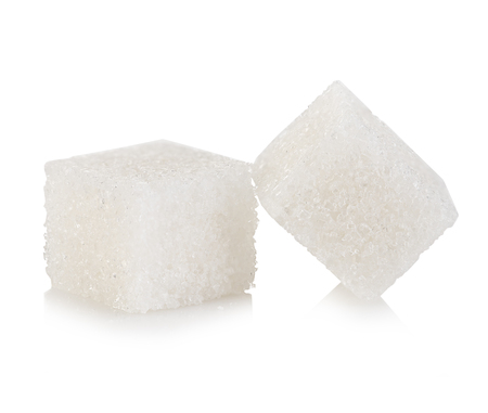 Cubes of sugar isolated on white background Stock Photo