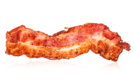 Bacon strip close-up isolated on a white background. Reklamní fotografie - 60626977