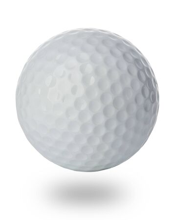 Golf ball close-up isolated on a white background. Reklamní fotografie