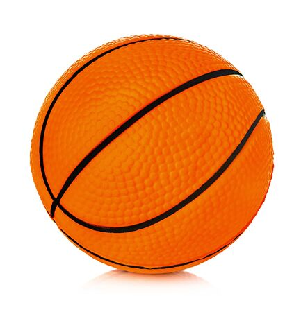 Orange basket ball close-up isolated on a white background.
