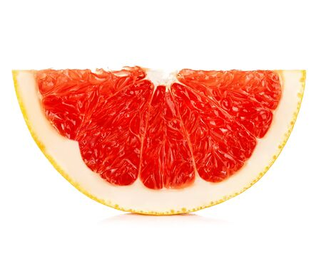 Grapefruit slice isolated on a white background. Reklamní fotografie
