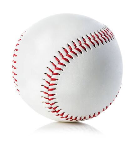 Baseball ball close-up on a white background. Reklamní fotografie