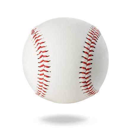 Baseball-Ball-Nahaufnahme auf weißem Hintergrund. Standard-Bild